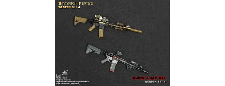 Sand  Sniper /& Army Weapon Case Accessories for Action Figures ZY Toys 1:6 Tan