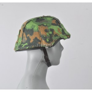 Alert Line AL100016A - WW11 German SS MG42 Gunner - Helmet with Spring Oak Leaf Camo Cover