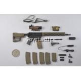 DAMTOYS 78044A - FBI SWAT Team Agent - San Diego - M4 Carbine Rifle with Troy Handguard set