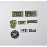 DAMTOYS 78044A - FBI SWAT Team Agent - San Diego - Patches