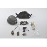 DAMTOYS 78044B - FBI SWAT Team Agent - San Diego (Midnight Ops) - Sentry Ballistic Helmet set
