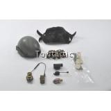 DAMTOYS 78044B - FBI SWAT Team Agent - San Diego (Midnight Ops) - Sentry Ballistic Helmet set