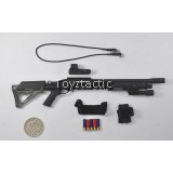 DAMTOYS 78044B - FBI SWAT Team Agent - San Diego (Midnight Ops) - M870 Shotgun with Flashlight Handguard