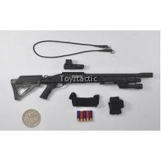 DAMTOYS 78044B - FBI SWAT Team Agent - San Diego (Midnight Ops) - M870 Shotgun with Flashlight Handguard