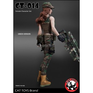 CAT TOYS CT014B Green Military Female Character set