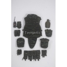 DAMTOYS 78053 - Chinese People's Armed Police Force Snow Leopard Commando Unit Team Leader - Type 15 Tactical Vest with Pouches Set