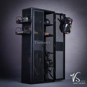 VSTOYS 18XG34A 1/6 Metal weapon cabinet locker (Black)