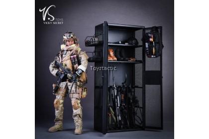 VSTOYS 18XG34B 1/6 Metal weapon cabinet locker (Silver)