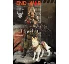 "FLAGSET 73022 1/6 DOOMSDAY WAR SERIES END WAR DEATH SQUAD ""U"" Umir +Dog Suit"