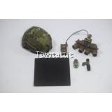 Easy & Simple 26020R Tier 1 SMU Part V CAG Assault Team Breacher - Maritime Cut Helmet with GPNVG-18 Set