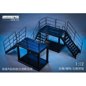 TWTOYS TW1904-B 1/12 All metal stairs (platform) scene