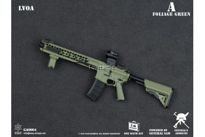General's Armoury GA0004 1/6 LVOA Rifle - Foliage Green