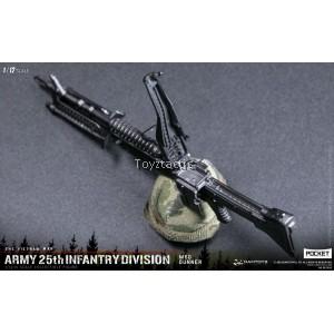 DAMTOYS 1/12 POCKET ELITE SERIES  ARMY 25th Infantry Division M60 Gunner