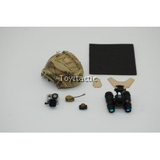 Easy & Simple 26033S - Commandement des Opérations Spéciales Prt II 'The Sniper' - MSA High Cut SF Helmet with AN/PVS-15 Night Vision Goggle Set