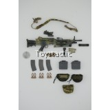 Flagset 73020 - 1/6 DEVGRU US Seal Team 6 Jungle Dagger - M249 SAW Machinegun Set