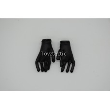 DID D80138 1/6 WWII German Battle of Stalingrad 1942 Major Erwin König 10th Anniversary Edition - Black Leather Gloves