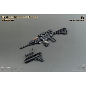 Easy & Simple 06021B British Special Force Weapon Set B - HK417 Sharpshooter / L17A2