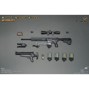 Easy & Simple 06021C British Special Force Weapon Set C - HK417 Sniper/HK69