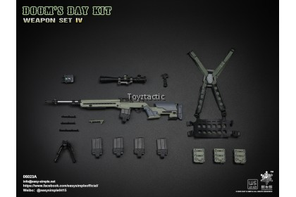 Easy & Simple 06023 1/6 Doom's Day Kit Weapon Set IV - Green M1A1 Rifle