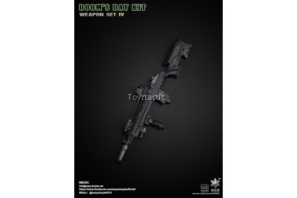 Easy & Simple 06023 1/6 Doom's Day Kit Weapon Set IV - Black M1A1 Rifle