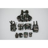DAMTOYS 78062 - Chinese Peacekeeper PLA in UN Peacekeeping Operations - Chestrig with Pouches