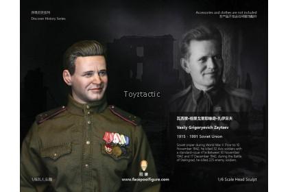 FACEPOOLFIGURE FP-H-006 1/6 Discover History Series Head Sculpture,Vasily Zaytsev
