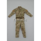 DAMTOYS 78069 1/6 Operation Red Wings -NAVY SEALS SDV TEAM 1 - Team Leader - Desert 3-Color Camouflage Shirt & Pants with CQB Belt