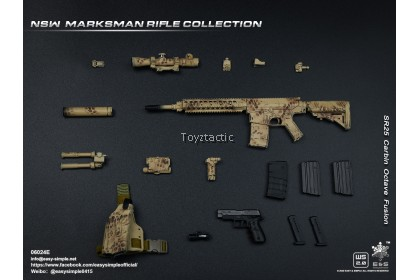 Easy & Simple 06024 1/6 NSW Marksman Rifle Collection - 6 Individual Rifle