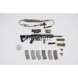 DAMTOYS 78072 - 1/6 NSWDG NAVAL SPECIAL WARFARE DEVELOPMENT GROUP - AOR2 VERSION - FAST HK416D Rifle Set
