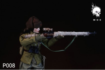 MOE TOYS P008 1/6 Russian Female Sniper with Winter Suit