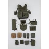 DAMTOYS 78074 1/6 1st SFOD-D Combats Application Group Gunner - Releasable Assault Vest with Pouches