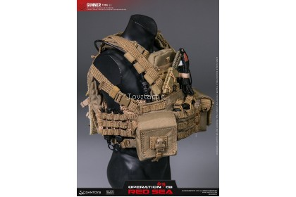 """(PREORDER) DAMTOYS DMS015 1/6 OPERATION RED SEA PLA NAVY MARINE CORPS """"JIAO LONG"""" SPECIAL OPERATIONS BRIGADE GUNNER TONG LI"""