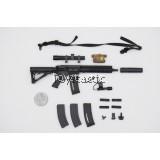 Easy & Simple 26030C 1/6 Special Mission Unit Part X Frozen Night Assault - 416 5.56mm Assault Rifle with DEVGRU DD Handguard Set