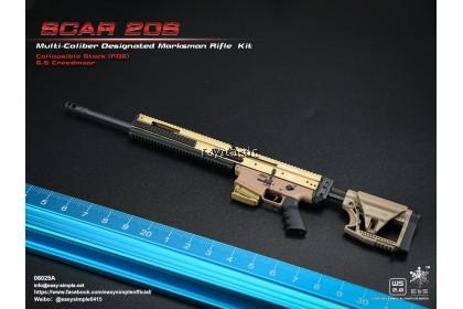 Easy & Simple 06025 1/6 SCAR 20S Multi Caliber Designated Marksman Rifle Kit - Type A