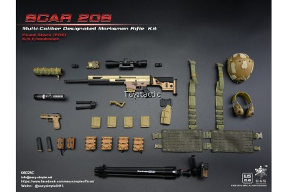 Easy & Simple 06025 1/6 SCAR 20S Multi Caliber Designated Marksman Rifle Kit - Type C