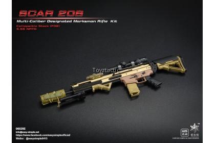 Easy & Simple 06025 1/6 SCAR 20S Multi Caliber Designated Marksman Rifle Kit - Type E