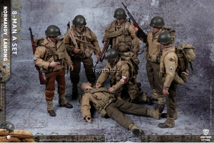 (PREORDER) Crazy Figure LTY001 1/12 WWII U.S. Army On D-Day Deluxe Edition (Contains All Eight Figures)