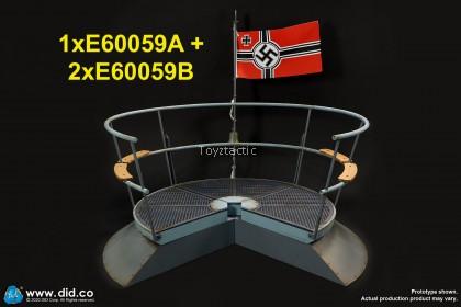 (PREORDER) DID E600591/6 U-Boat Conning tower gun deck diorama Set A