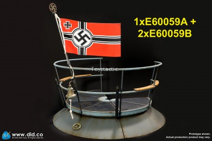 (PREORDER) DID E600591/6 U-Boat Conning tower gun deck diorama Set B