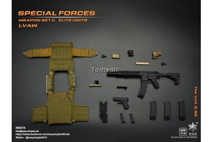(PREORER) Easy & Simple 06027 1/6 Special Forces Weapon Set C Elite Units LVAW - The Unit 5.56