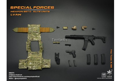 (PREORER) Easy & Simple 06027 1/6 Special Forces Weapon Set C Elite Units LVAW - The Team 5.56