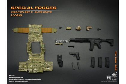 (PREORER) Easy & Simple 06027 1/6 Special Forces Weapon Set C Elite Units LVAW - The Team .300