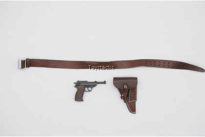 DID D80147 1/6 WWIl German Luftwaffe Captain - Willi - Leather Belt with Pistol & Holster