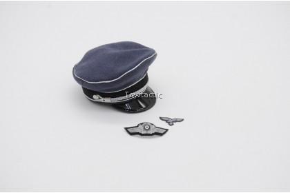 DID D80147 1/6 WWIl German Luftwaffe Captain - Willi - WWII Luftwaffe Officer Visor Cap