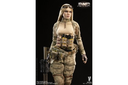 VERYCOOL VCF-2037B 1/6 Female Soldier - Jenner with German Shepherd Dog
