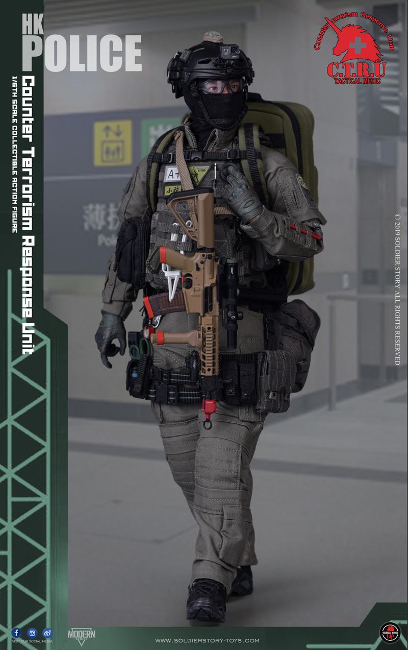 Soldier Story SS116 1\/6 HK Police CTRU - Tactical Medic